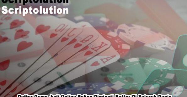 Judi Online Paling Diminati - Pakar Game PokerV Online dan DominoQQ